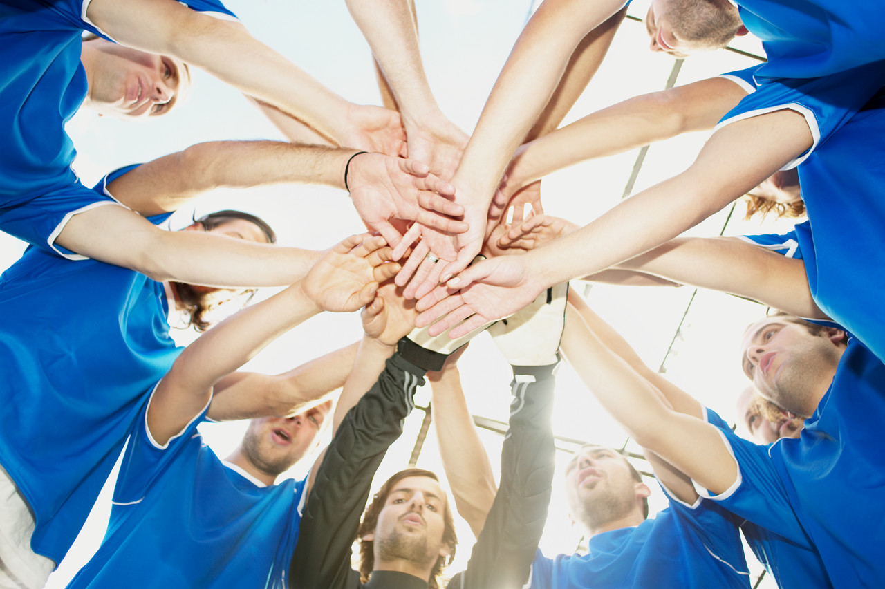 Football team --- Image by © Royalty-Free/Corbis